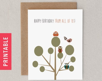 "Funny PRINTABLE Birthday Day Card. PDF. Snarky. Sarcastic. For Friend, Man, Woman, Him Her. From Both, Many. ""Your Personalities"" (CBD-E031)"