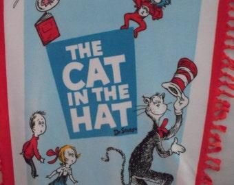Cat In The Hat NoSew Fleece Blanket
