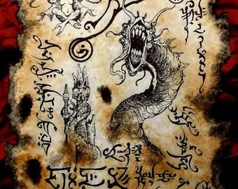 THE DEVOURER cthulhu larp Necronomicon Fragment occult magick