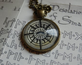 The Lord of the Rings Compass Map Necklace