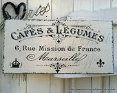 FRENCH SIGNS, French Kitchen Signs, French Cafe, Cafe Signs, 12 x 24