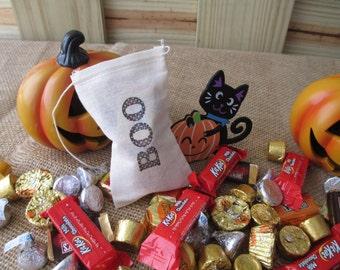 "Halloween ""BOO"" Favor Bags 3x5 - Set of 10 - Item 1602"