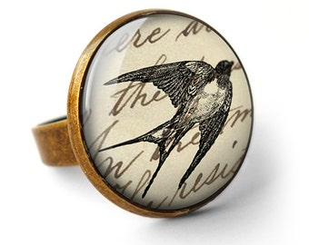Vintage Swallow Ring (ER05)