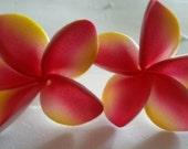 Plumeria, Pink,pink flower, Tiki,Tropical flower,Hair flower, Flower clip, Ready to ship,luau, wedding,tropical hair flower