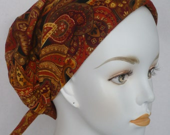 Paisley Chemo Cancer Hair Loss Scarf Turban Hat Bad Hair Day Headcover Hairwrap