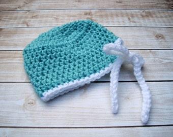 Crochet Baby Hat, Newborn Baby Hat, Infant Baby Hat, Crochet Baby Hat, Baby Scrub Hat, Baby Doctor Hat, Baby Hallowen Hat, Baby Costume,