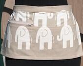 Vendor Apron Server Apron Travel Apron Beige White Elephant Cotton Twill