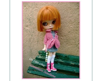 67. English and french INSTANT DOWNLOAD pdf Knitting Pattern Blythes dolls with nemo pure body