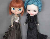 Victorian Elegance Pattern for Blythe, Full Ensemble, Bustle Skirt, Corset, Jacket, bloomers, Steampunk, Gothic Doll Clothes