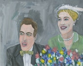 oil portrait - The wedding guests. Original oil painting by Vivienne Strauss.