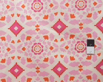 Dena Designs PWDF107 Taza Josephine Pink Cotton Fabric 1 Yard