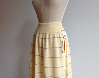 Vintage Striped Wool Sweater Skirt. 1980s Liz Claiborne, New with Tags.