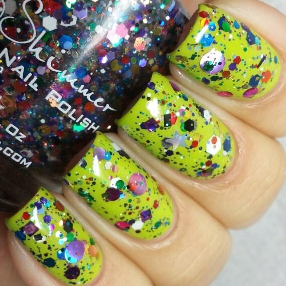 Clown Puke Rainbow Glitter Bomb Nail Polish 0 5 Oz By Kbshimmer