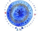 Mandala of the blues. Illustration