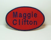 Oval Name Patch with Two Text Lines-100066