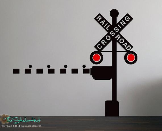 Railroad Train Crossing Lights With Arm Train Theme