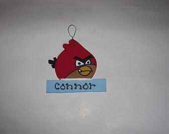 Angry Birds (Red )Christmas Ornament - Personalized