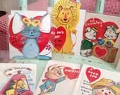 ten adorable animal theme vintage valentines