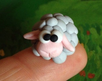 Little sheep - a Polymer  Clay Creation by Bdbworld on Etsy (No 7)
