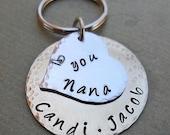 Grandma Nana Nonna Grammy Keychain - Personalized Names Keychain - Custom Names Keychain- Mother's Day Gift - Nonna Mimi Gift -K46