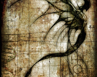 Idolmantis Diabolica 11 x 17 inch print by Jesse Lindsay