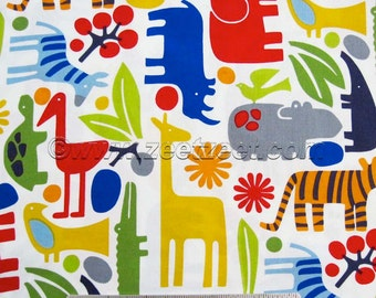 Alexander Henry 2-D Zoo NEW Primary Animals Cotton Quilt Fabric by the Yard