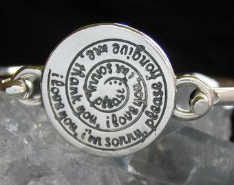 Ho'oponopono Bracelet - Spiral - Sterling Silver