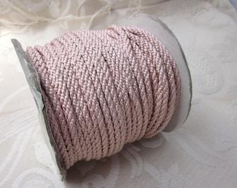 3 Metres 4mm Pale Rose Pink Lacing Cord
