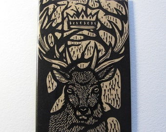 Stag deer art magnet 2 x 3 inches