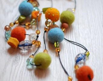 Beautiful  necklace , belt, multicolored
