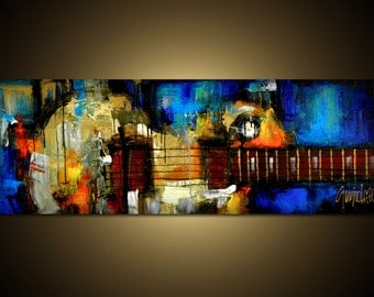 Made to Order - Custom Painting - Modern Abstract Art by SLAZO - 20x60
