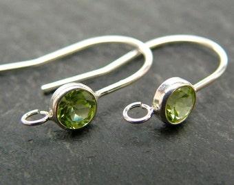 Sterling Silver Peridot Ear Wire ~ PAIR (CG6607)