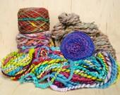 Pop Art Handspun Yarn Bundle - 13.375 ounce total
