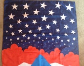 USA Scarf // Star Print // Red White and Blue // Americana // Pop Art // American Pride // Vintage Scarf // Retro // Stars and Stripes