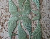 Germany Aqua Dresden Die Cut Angel Wings Paper Foil