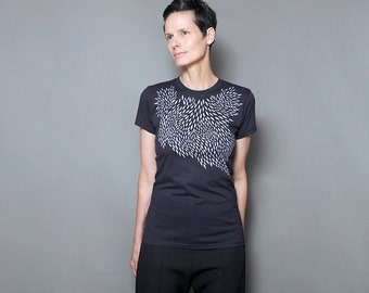 Women's T shirt, Womens graphic tee, Geometric Screen Print, Abstract Art Print,  Graphic T-shirt
