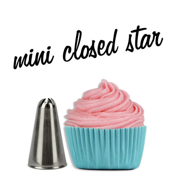 Items similar to closed star mini cupcake decorating tip for Star decorating tip