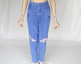 Vintage 80s High Waist MOM JEANS. Size Small