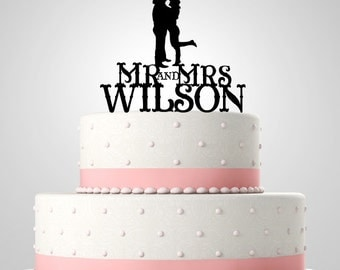 Acrylic Cake Topper,Wedding Cake Topper,Personalized Cake Topper,Western theme