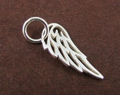 RESERVED for C only Sterling Silver Angel Wing Charm in Mini Size Cute Bird Wing Dangle