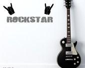 Rock Star Wall Decal - Vinyl Wall Decals Stickers Art