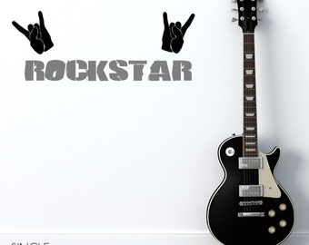 Rock Star Wall Decal - Vinyl Wall Decals Stickers Art