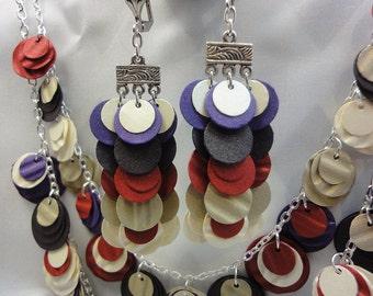Paper Earrings in Earthtones Style #2