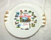 Las Vegas NV Souvenir Ashtray - Vintage Classic Casinos - Kitsch Decor