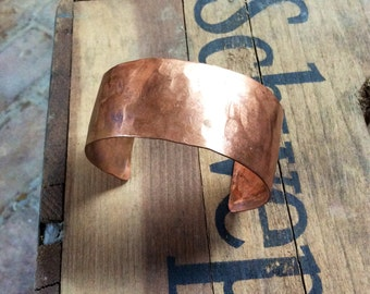 Copper Cuff with Hammer Texture