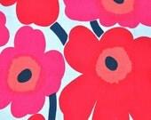Red and pink Mini Unikko cotton fabric by Marimekko – A PIECE