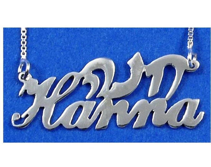 2 Name Necklace - sterling silver - choose from 5 styles and many languages