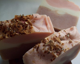 SALE SOAP! Organic Hibiscus Rose Soap, Shea Butter Bar Soap, Etsy handmade soap