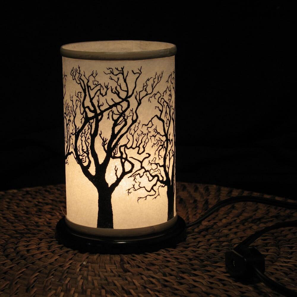 Table Top Night Light Electric Shoji Lantern Small Tree Home