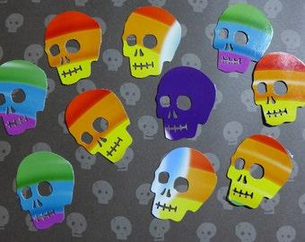 Rainbow Skull Die Cuts